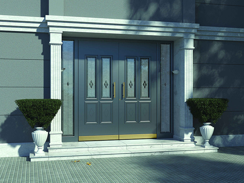 Double-leaf entrance doors