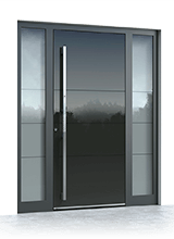 Aluminium entrance door 6009