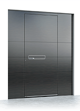 Aluminium entrance door 612